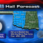 There wont be many storms, but those that form will have BIG hail today! #OKWX @kfor #KFORTV4 http://t.co/fqsZdmQVtm
