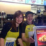 Globals @McNabbonGlobal at McHappy Day at a McDonalds on Goulet Street in Winnipeg @McD_Canada @RMHManitoba http://t.co/BHgoWx43Mu