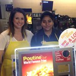 Globals @BrittAtGlobal at McHappy Day at a McDonalds on Goulet Street in Winnipeg @McD_Canada @RMHManitoba http://t.co/bGoHLceh9n