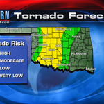 One or two supercells will likely form today and carry a small risk for tornadoes this aftn. Stay with @kfor #OKWX http://t.co/oLJywYfJzk