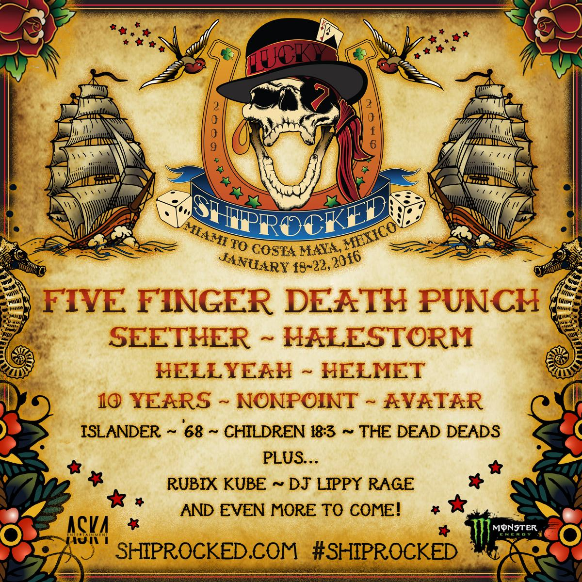 Behold the initial lineup for #ShipRocked! Welcome aboard @FFDP  @SeetherOfficial @Halestorm @hellyeahband & more! http://t.co/5VzbJabfg0