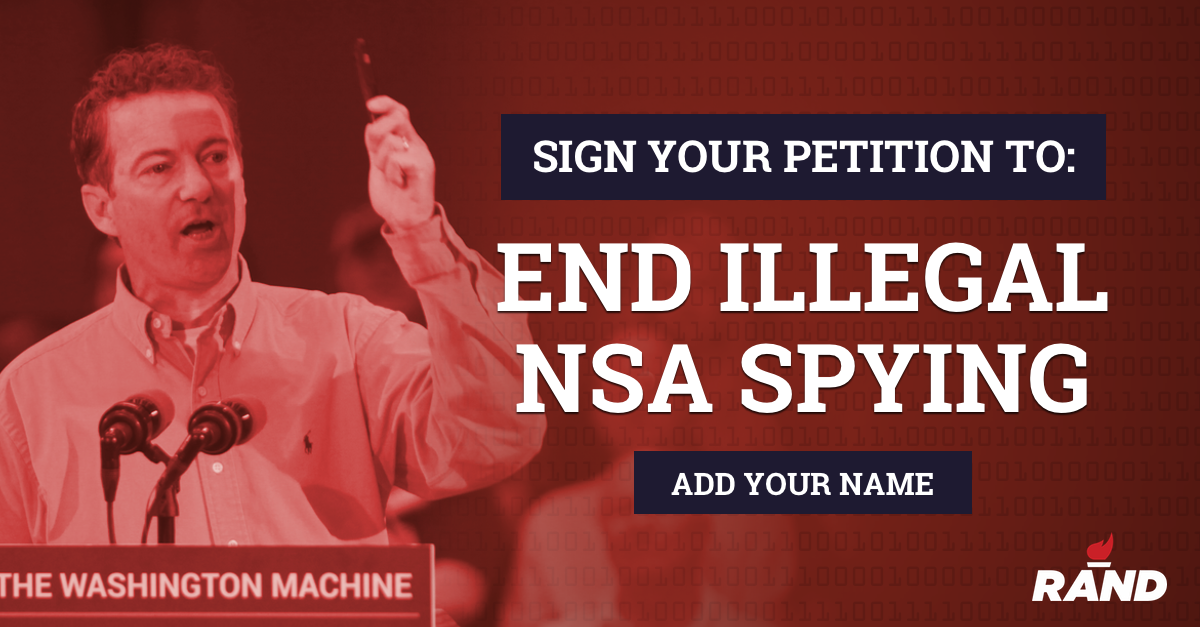 Help stop Pres. Obama's unconstitutional NSA spying program, add your name now: