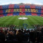 #FCBFCB Así ha recibido el Camp Nou a los jugadores. El mosaico que ha vestido al estadio de gala #FCBlive http://t.co/qHld7P1jq7