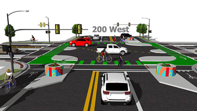 Salt Lake City to install the nation's first protected intersection for cyclists http://t.co/cw26IK5KOn Big deal! http://t.co/fnatTWNTaY