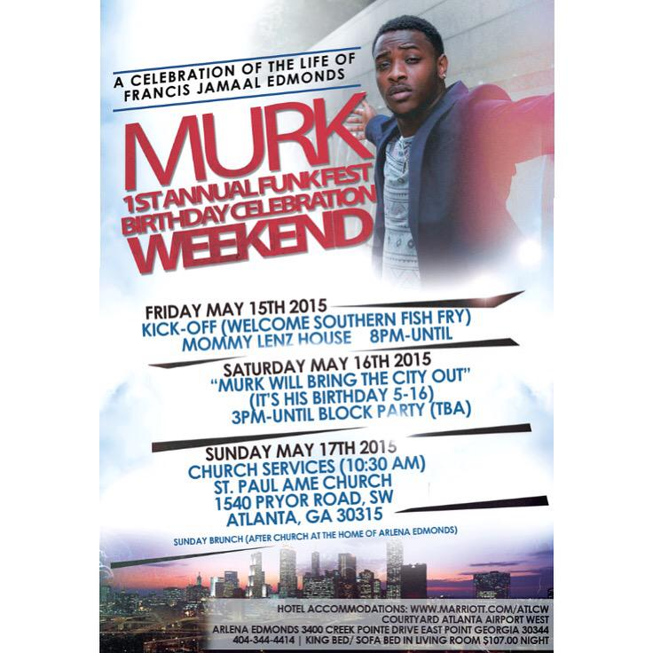 May 15th-17th. MURK WEEKEND. Atlanta,Ga. | DM for Details. http://t.co/2IDi4szold