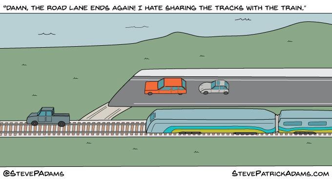 """""""If roads were like bike lanes."""" http://t.co/Ybbgtl92Wg"""