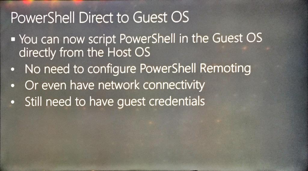 Woop woop #powershell direct into vm #hyperv #vnext #MSIgnite http://t.co/Tp5xL9VZ1n