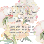 Shop at @DASHBoutique this Saturday for our special Pre-Mother's Day event! Details here XO http://t.co/3iVt424uo6 http://t.co/VWcm7WiP2T