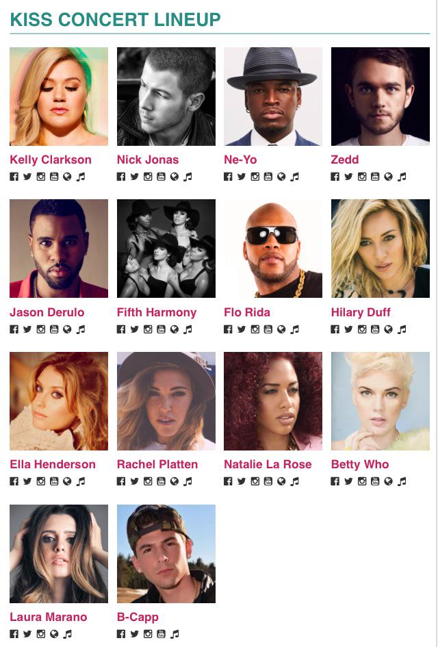 Huge news Boston #TeamBcapp I will be Performing at @Kiss108 Kiss Concert 2015!!! Along with all these amazing artist http://t.co/2yWMVQHmrV