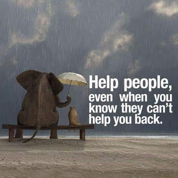 Help people, even when you know they can't help you back. #bethegood http://t.co/BW2xt75YLE