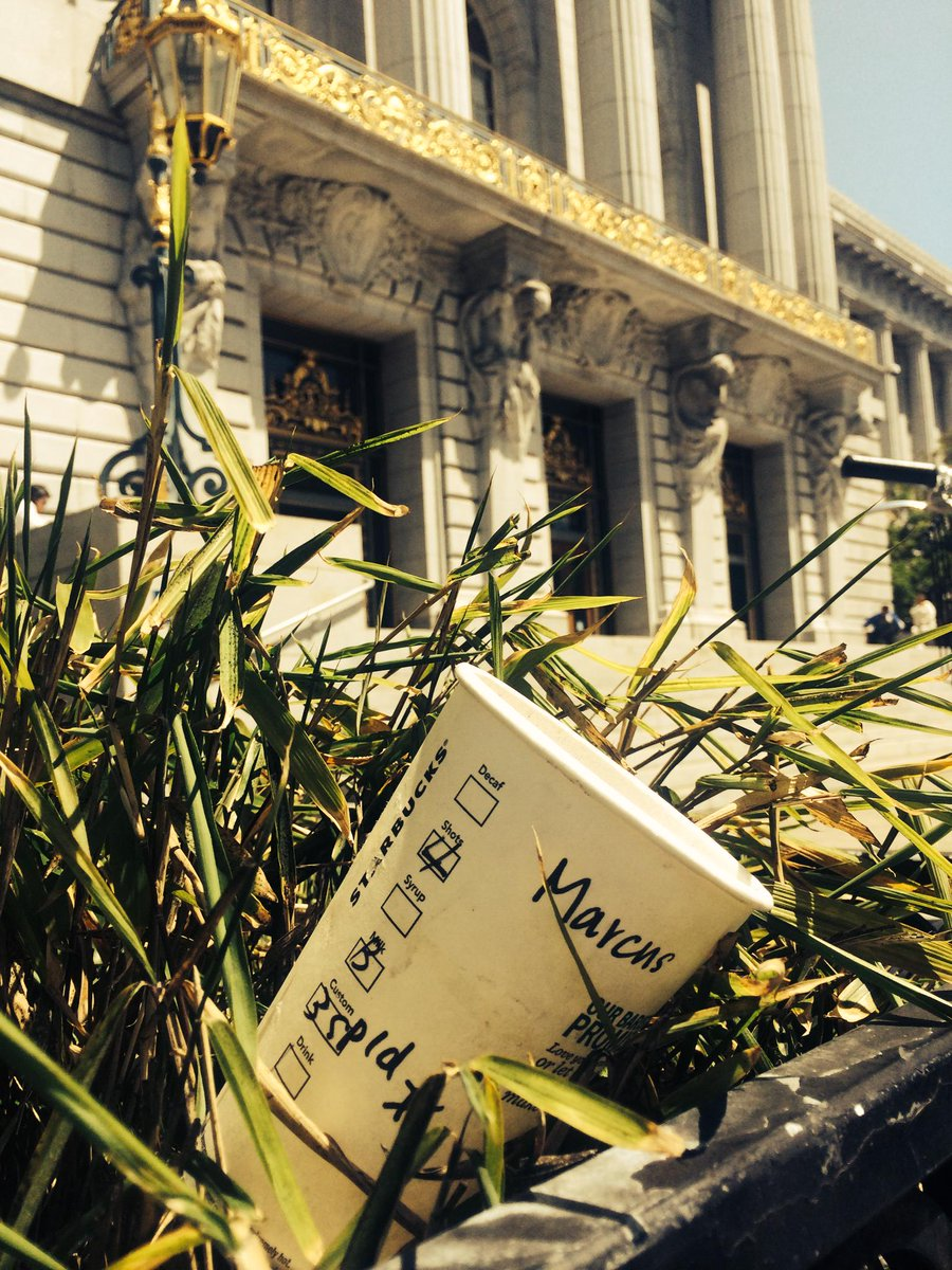 Marcus, after 4 shots of espresso, surely you have energy to compost your cup. It's the #SFThingToDo #WhoIsMarcus http://t.co/hejKWJrqGV