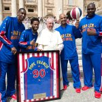 "Real ""@SportsCenter: Pope Francis named an honorary member of  Harlem Globetrotters. (via @Globies) http://t.co/7RMsWmzYck"""