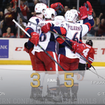 The Griffins defeated the @goicehogs 5-3 in Game 1 of the Conference Semifinals tonight. #GRvsRFD #BringItBack http://t.co/CsOKLP3n7h