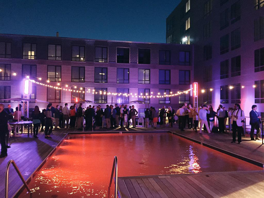 Beautiful evening @InkBlockBoston rooftop party this place is a great addition to our city! #Southend #realestate http://t.co/CpKJafmiMP