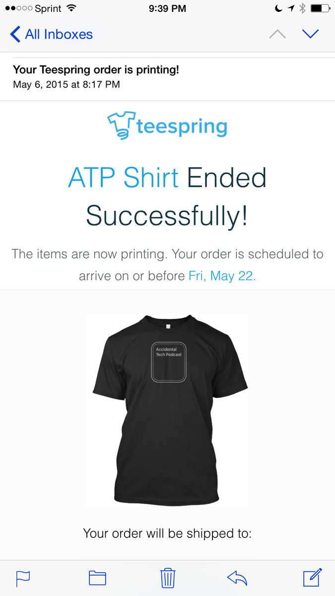 My @atpfm shirt will arrive May 22! #printing http://t.co/YDzu5jd2hk