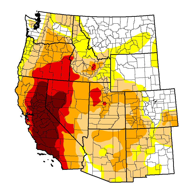 Map Only 23 Of Entire Us West Not In Drought Atbillkarins