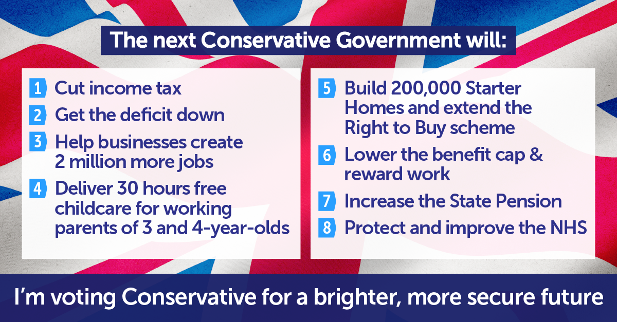 Vote for a Conservative majority to build on the progress we've made. Vote for a brighter, more secure future #GE2015 http://t.co/NdTvAMytpR