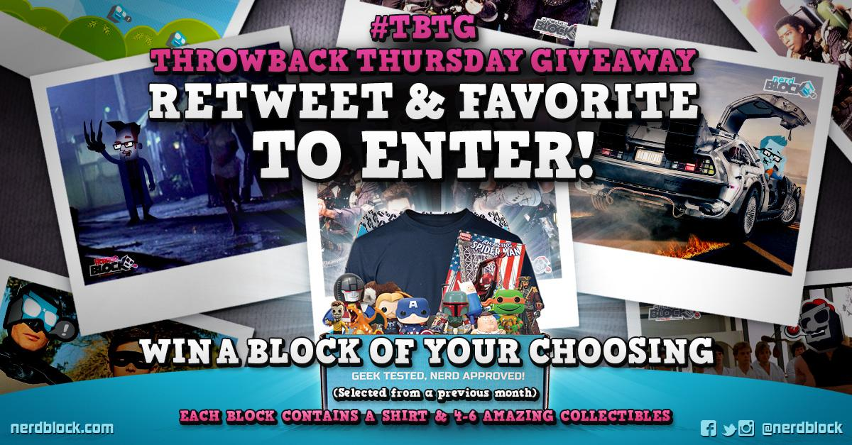 ✩ #GIVEAWAY: RT & Favorite for a chance to #win a #NerdBlock, #ArcadeBlock or #HorrorBlock! ✩ http://t.co/Eufe9vissr