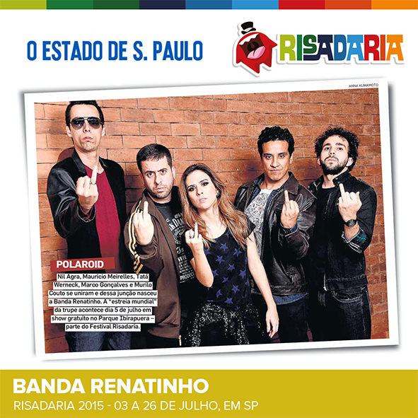 Banda Renatinho estreia no RISADARIA! Com Tatá Werneck, Mauricio Meirelles, Murilo Couto, Marco Gonçalves e Nil Agra http://t.co/HUILXjp4Bq