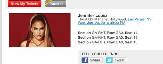 #1 Bronx JLo Fan will be Front Row & Center to #Jan20 for my Birthday Month @JLo See you There! #JLoVegas I am Hype! http://t.co/qZUNeRuCm4