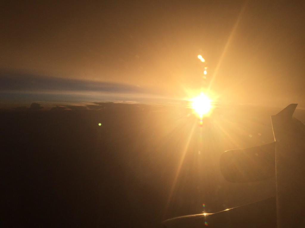 #SunsetsForShalin above Norway taken from the plane http://t.co/rTuL9qo62w