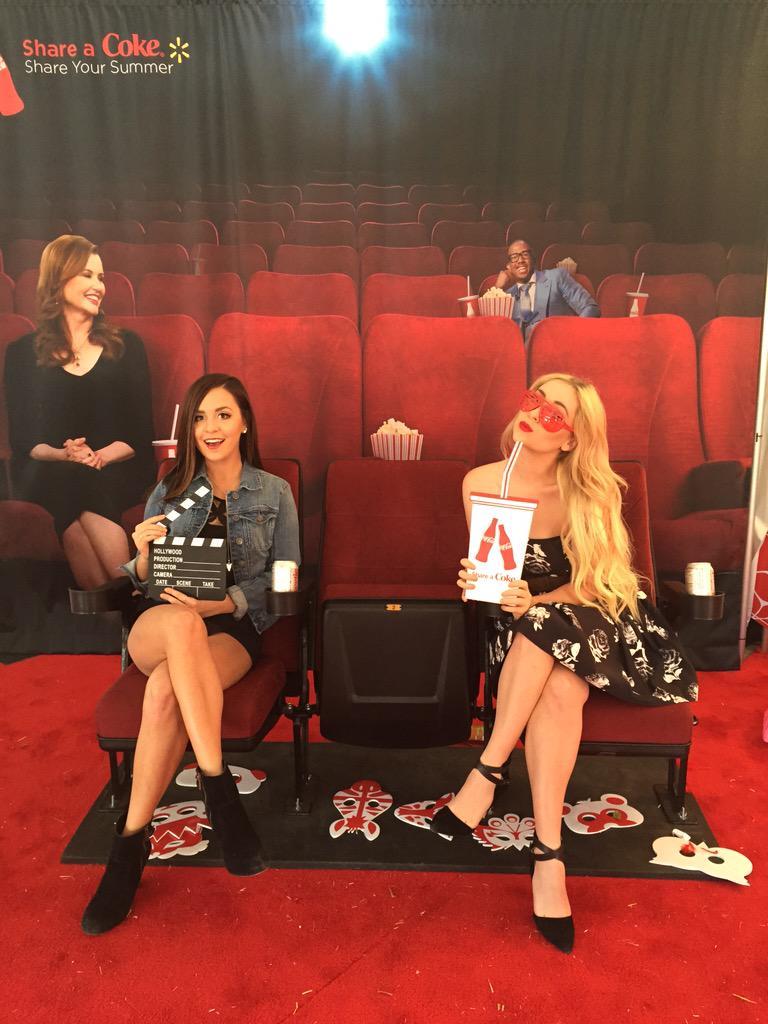 Spotted: @meganandliz @BvilleFilmFest enjoying @CocaCola #beourbff #shareyoursummer #BvilleFilmFest http://t.co/jL3qLnbuFR