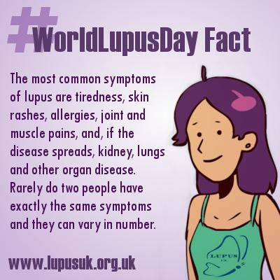 Today is #WorldLupusDay. Please help to raise awareness of #lupus by retweeting. #WorldLupusDay Fact 2 http://t.co/KxHqi23NjY