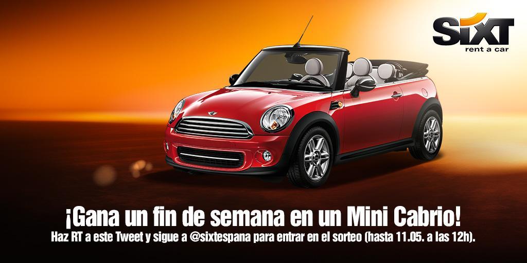 ¡Haz RT + sigue a @sixtespana y gana 1 de 3 findes en un Mini Cabrio! #TBMPlasencia #TBMSixt http://t.co/G9cIiNJSbi http://t.co/X165qosVIb