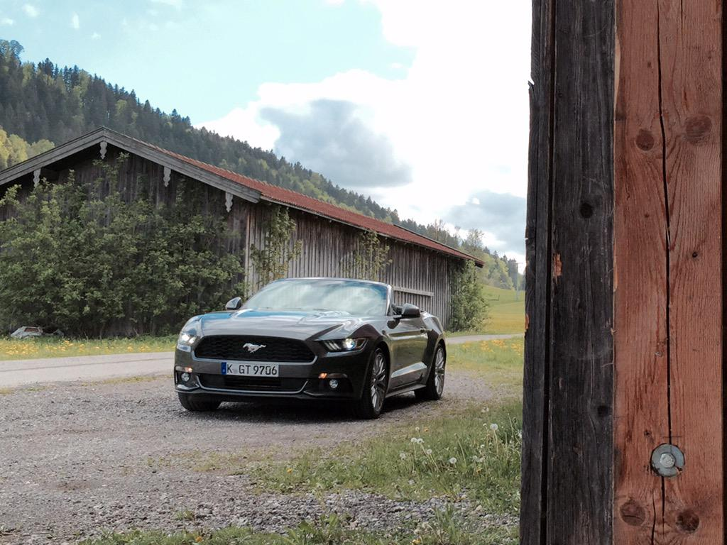 A large slice of Americana in Bavaria. #Ford #Mustang #MustangDrive http://t.co/GpC207uumU