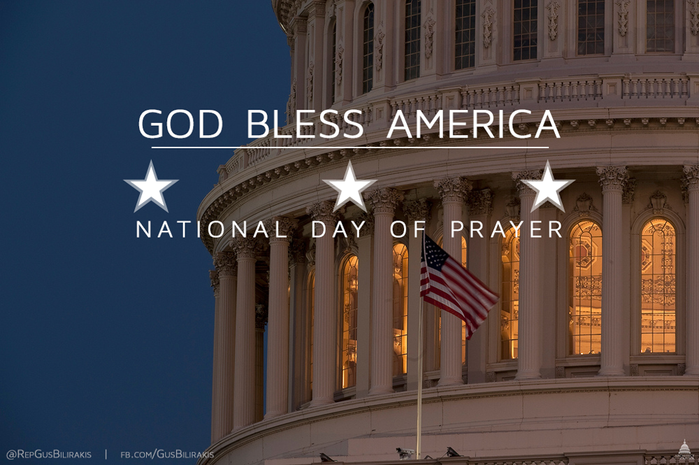 Today, on the 64th annual #NationalDayOfPrayer, let's put aside our differences & pray for the future of our country http://t.co/qbJI3nm8PL