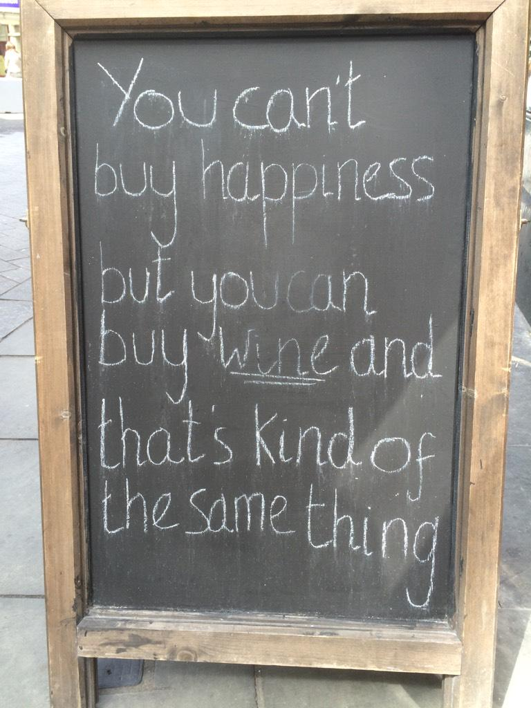 Impressed by English wine advertising and it's take on the pursuit of happiness. http://t.co/0lpUnTK8Nb