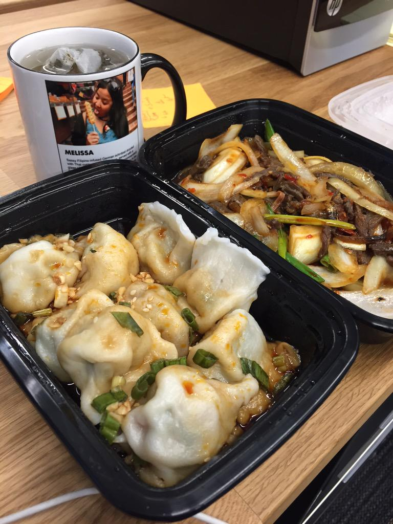I'm happy as long as @TryCaviarSF continues to deliver delicious Shanghai Dumpling King to me!