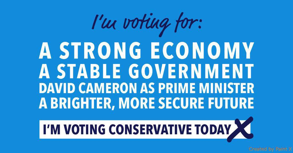 Just under 2 hours to go. #VoteConservative & together we'll build a brighter future #GE2015 http://t.co/bnNNHkFFET
