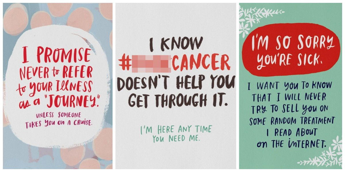 Greeting cards for cancer patients wblqual cancer survivor creates fck cancer greeting cards for patients greeting card m4hsunfo