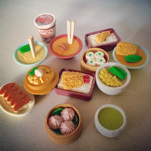 My new eraser set is making me hungry. #thosejapanese #kawaii http://t.co/HaUfV8ZBTw http://t.co/AYVvi7Mduq