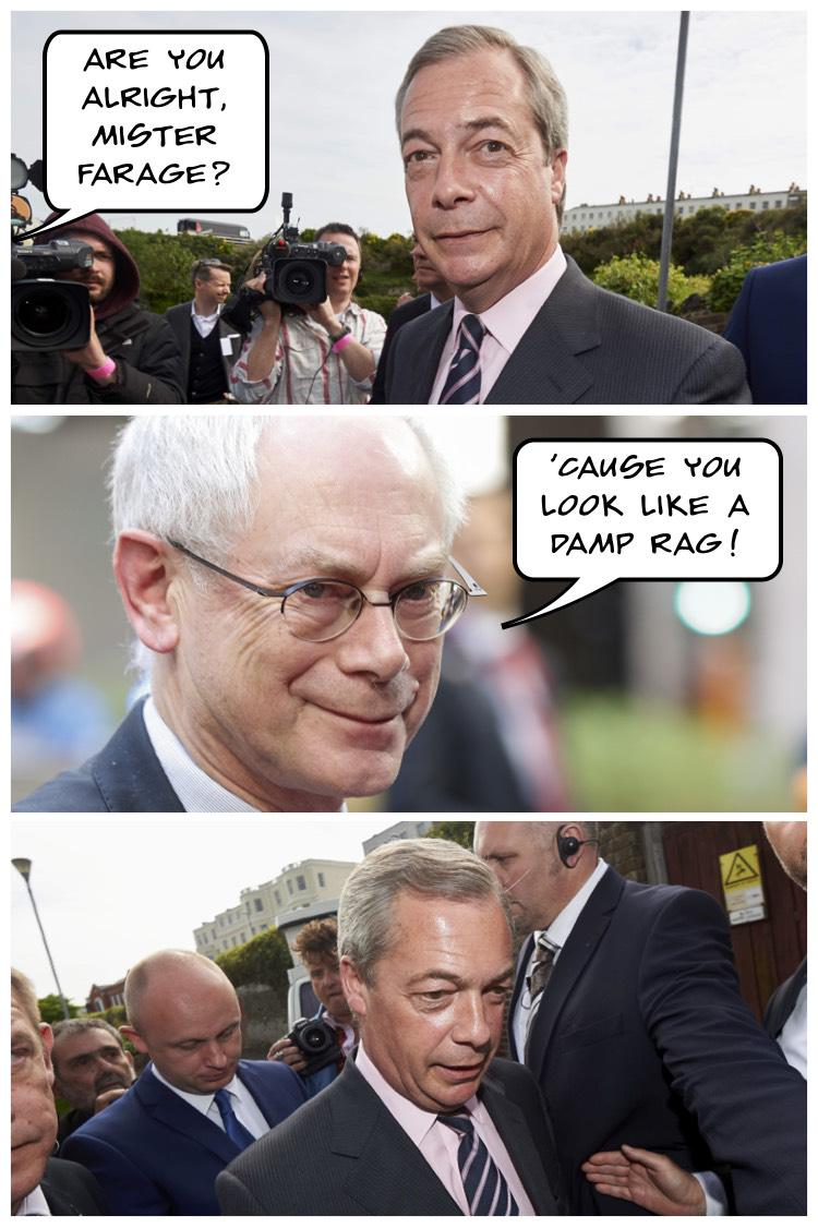 Our cartoonist @OrakelvMerksem on the #GE2015 and the defeat of @Nigel_Farage http://t.co/dajzJBNuC4