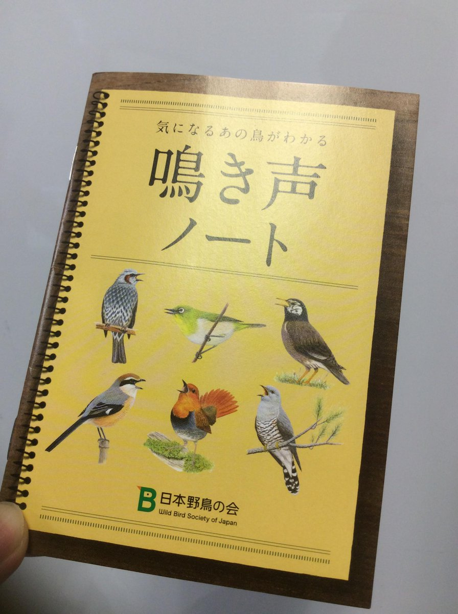 日本野鳥の会の「鳴き声ノート」が届いた! http://t.co/Rbth87hiRB 無料。申し込みはこちらから:http://t.co/hqD6CCrtE1 http://t.co/YuM1HL67U9