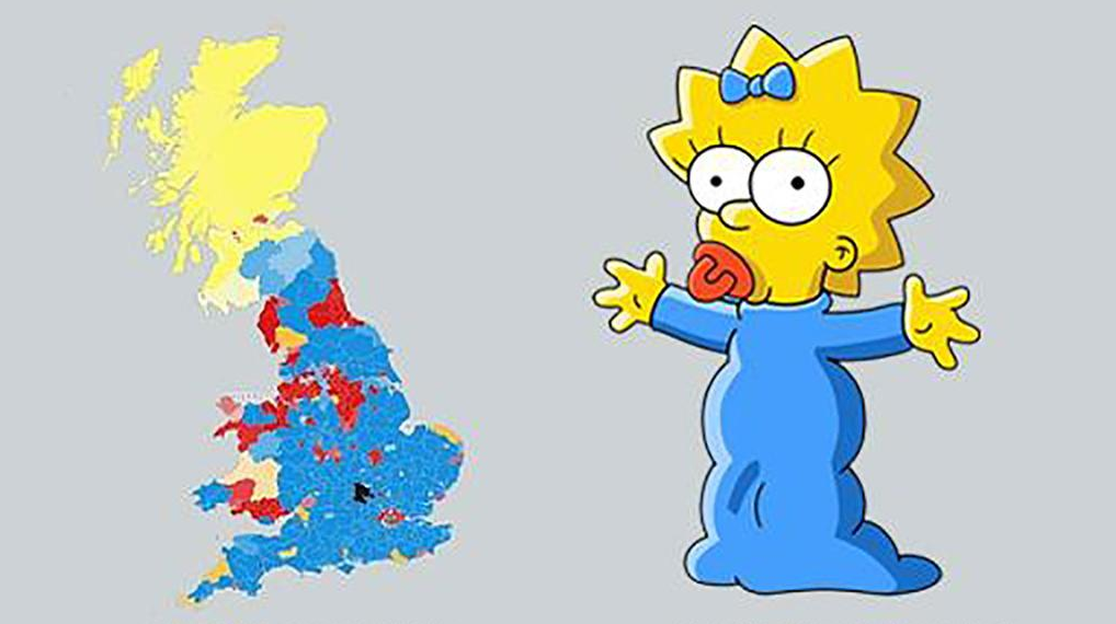 The UK General Election map is now starting to look a little bit like Maggie Simpson (via @mashable) http://t.co/QqPmH9IyyW