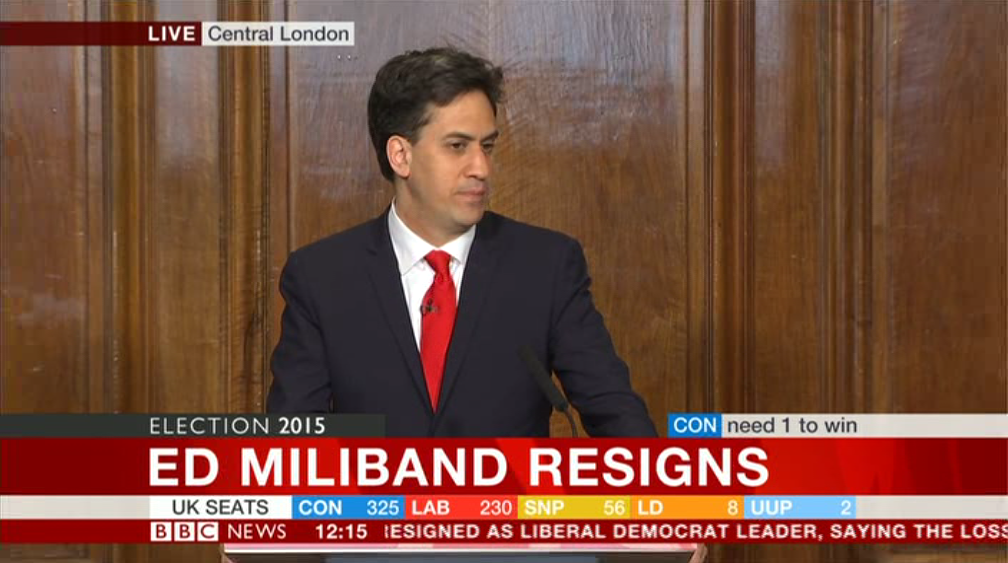Ed Miliband has resigned as leader of the Labour party #GE2015  http://t.co/V1Qnj7j3Ta http://t.co/tpCprKJZQy