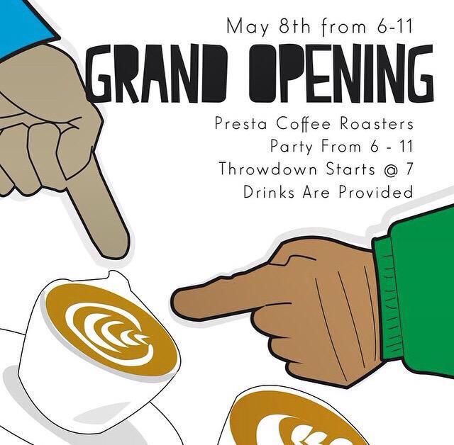 #Tucson: Presta Coffee is having their grand opening and latte art throwdown tonight! Begins at 6 pm at @prestacoffee http://t.co/d5FFz0qHps