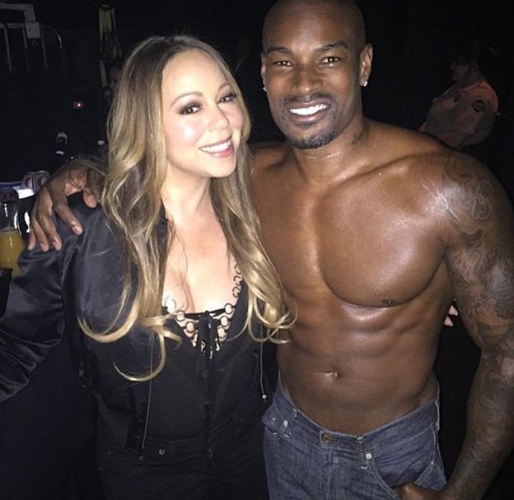 The one & only @mariahcarey joined @Chippendales on stage at @riovegas last night with @TysonCBeckford! #chippendales http://t.co/2i88OobTEs