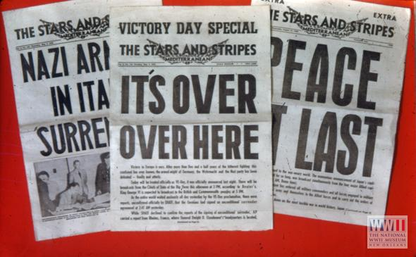5/8/1945-News of Germany's defeat set off mass celebrations. Allied leaders declare it Victory in Europe Day #VEDay70 http://t.co/tGwwTu17yz