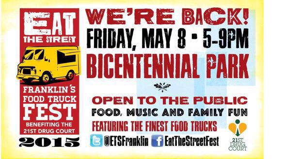 One of the best street food events of the year and it happens TONIGHT! Franklin Bicentennial Park 5-9pm @ETSFranklin http://t.co/J3J95m8OTg