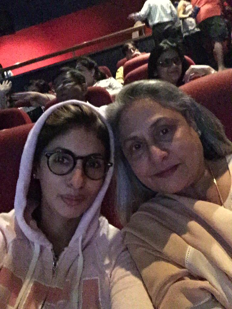 Got the mothership to see #Piku our way of beating the heat !! @juniorbachchan @SrBachchan http://t.co/EvUT8eWyWx