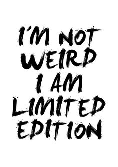 I am unique, I am different and I am me:) Don't be scared to be yourself, that way you stand out:) http://t.co/wsWen923AA