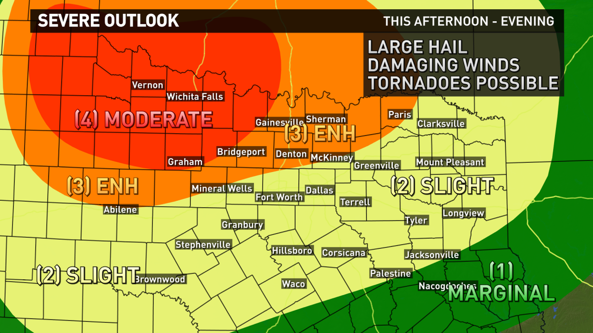 Updated severe weather outlook for this afternoon and evening. best ...