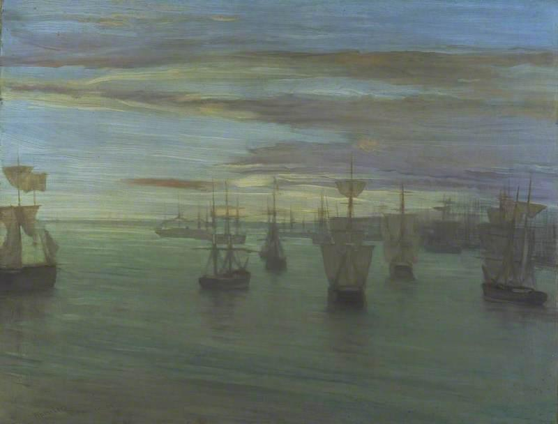 Crepuscule in Flesh Colour and Green: Valparaiso by James Abbott McNeill Whistler 1866 (@Tate) http://t.co/5D4MVcFcmi