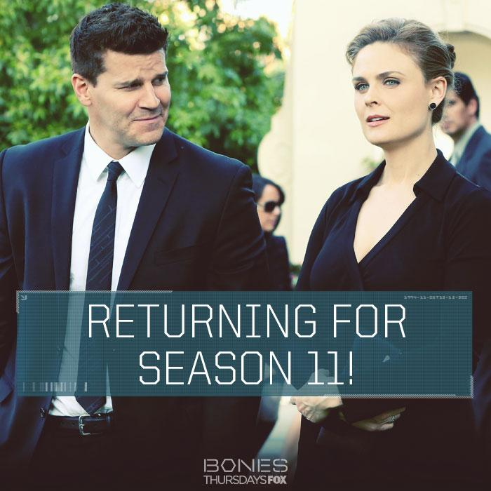 #Bones will be BACK for season 11! RT if you're excited for more! http://t.co/Nr42Fs6dVN http://t.co/I7j3tP4WsZ
