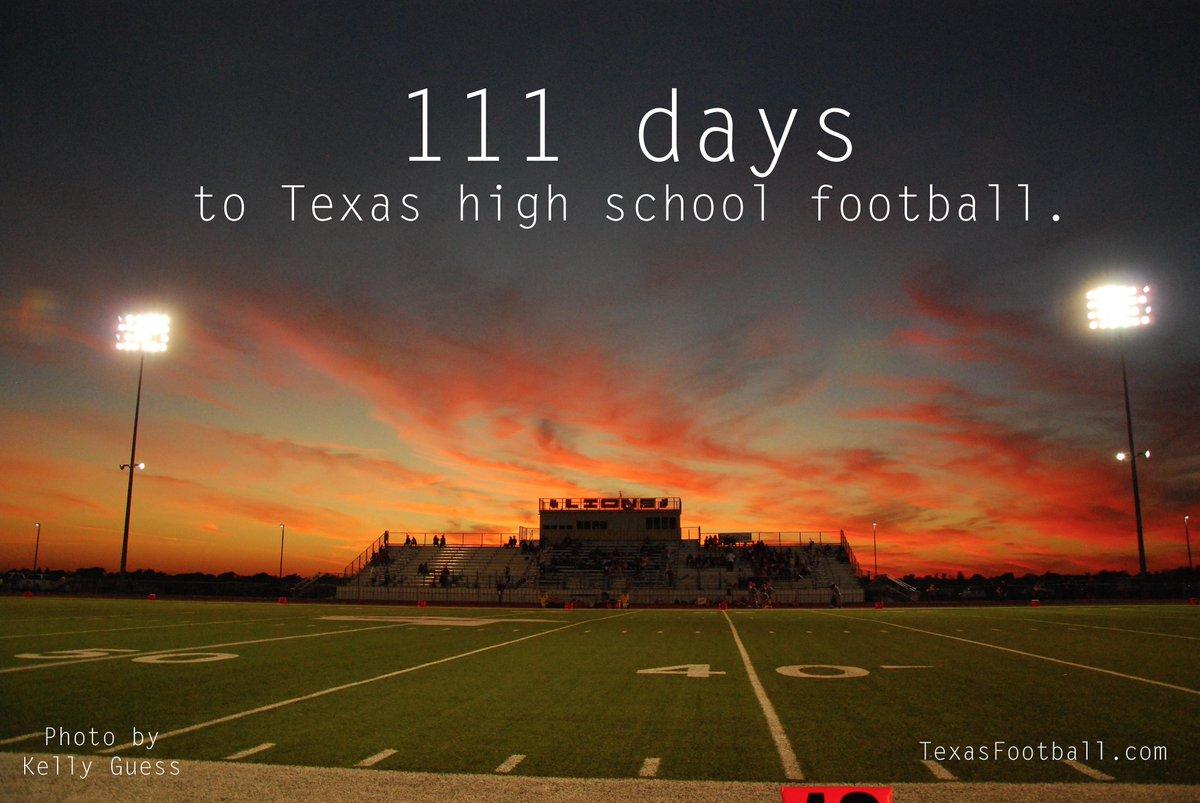 111 days, y'all.  http://t.co/bwqIMjeEKj   #txhsfb #StateOfFootball http://t.co/do1v3ok6eF