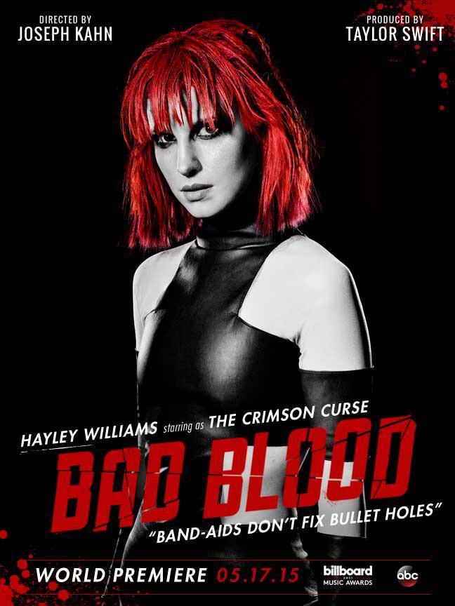 RT @taylorswift13: Meet The Crimson Curse.  @yelyahwilliams  #BadBloodMusicVideo http://t.co/R8nssKiXPG